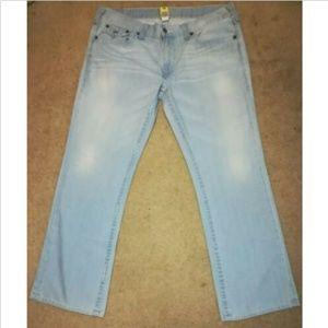 True Religion Sun Bleached Blue 42x33 Ricky Jeans